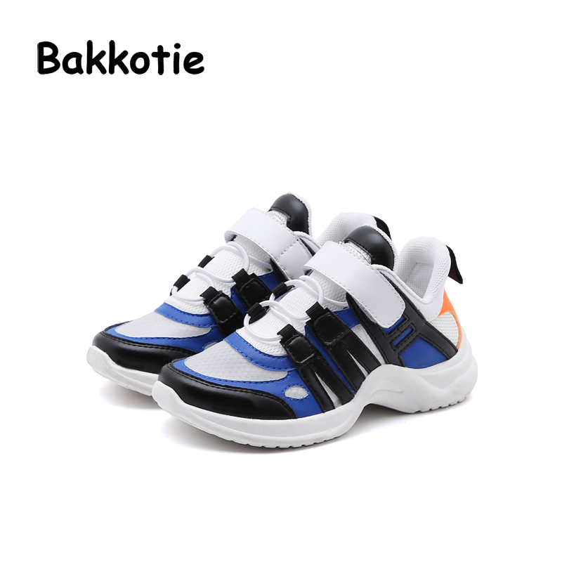 Bakkotie 2018 New Spring Fashion Baby Girl Mesh Sport Sneaker Kid Boy Casual Soft Shoe Children Black Brand All-Match Trainer