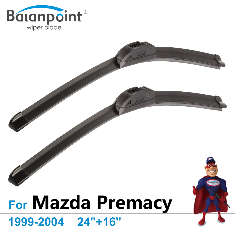 Windshield Wiper Blades for Mazda Premacy 1999-2004 24+16, Set of 2, All Season Jointless Wipers