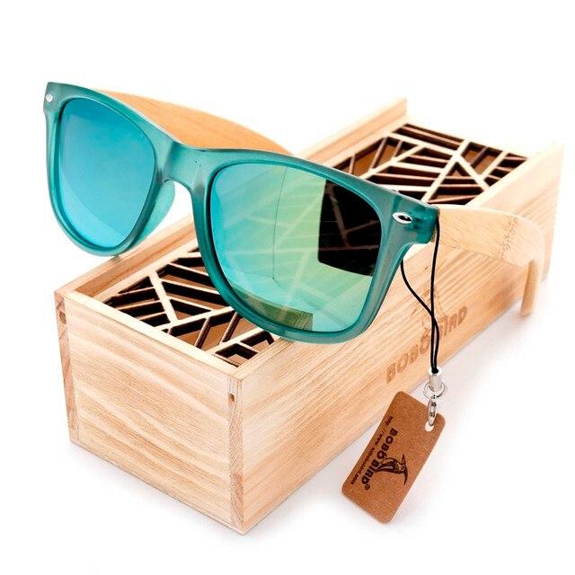 BOBO BIRD Brand Luxury Men and Women Polarized Sunglasses Bamboo Wood Holder Sun Glass with Retail Wood Box as Gifts 2017 G029
