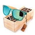 BOBO PÁSSARO Marca de Luxo Homens e Mulheres Óculos Polarizados Óculos de Sol De Madeira De Bambu titular Óculos De Sol com Caixa de Madeira de Varejo como Presentes 2017 G029