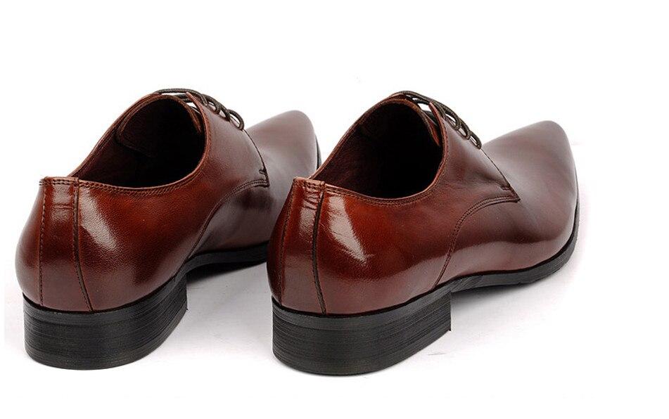 0f05d64c55 Plana Zapatos Pic Wedding Para Cuero negro As Formal Borgoña Hombre Prom  Hombres Oxford Marca Diseñador ...