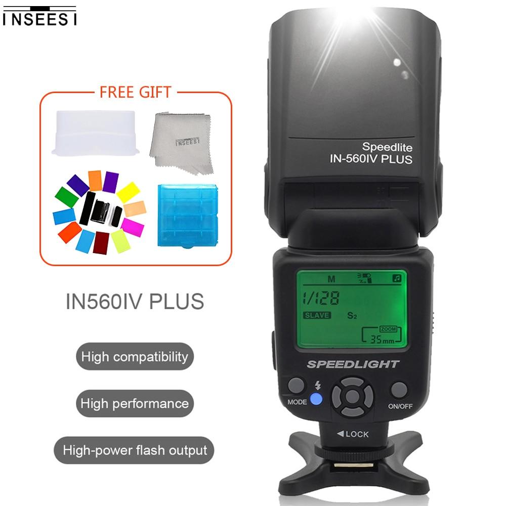 INSEESI IN-560IV Plus écran LCD sans fil Flash Speedlite lumière Support S1/S2 pour Pentax K-7 k-x k-m K20D K10D K200DSLR appareils photo