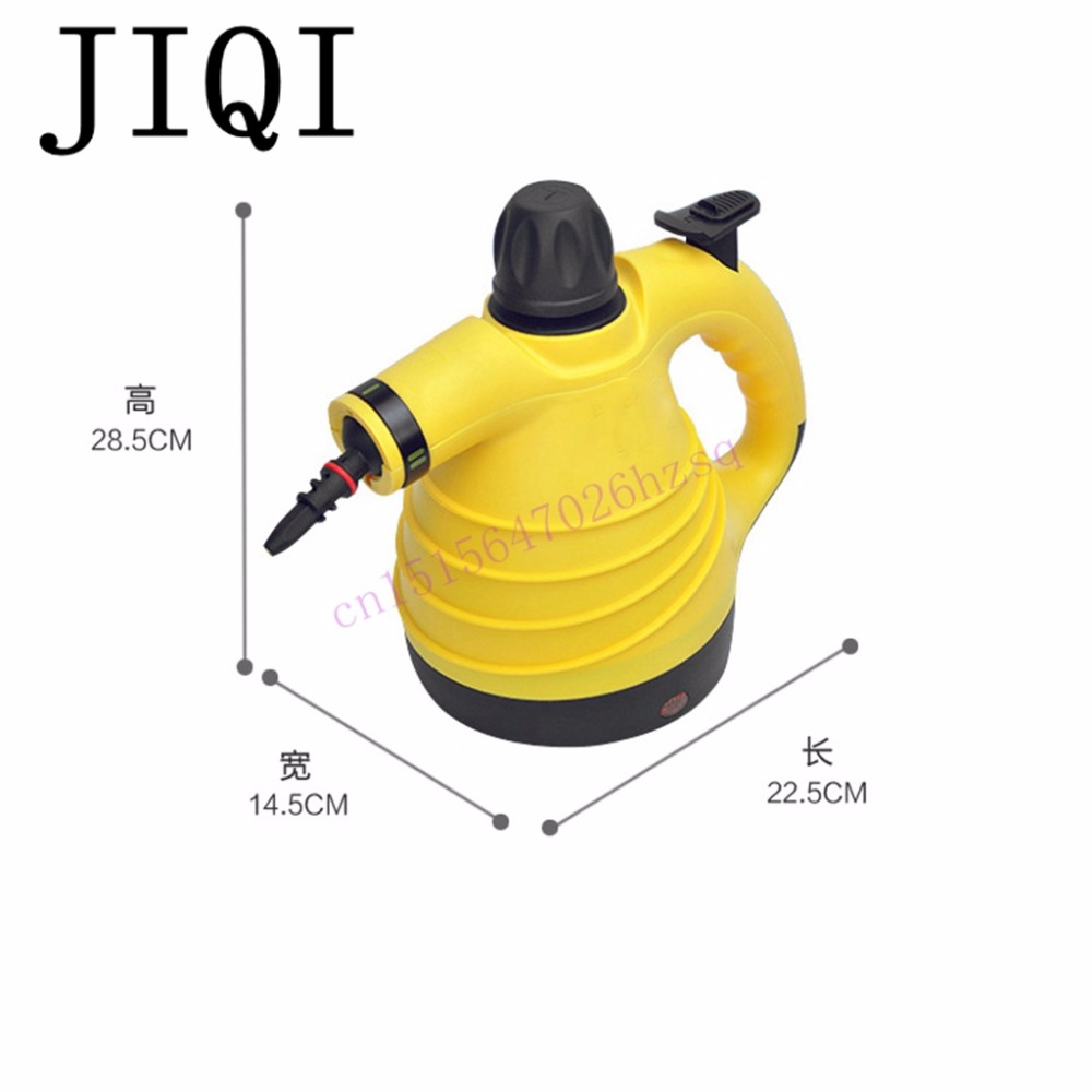 JIQI 1000W 300mL Steam cleaner Handheld cleaning machine Disinfector Sterilization Anti dry burning 6 steam outlets efficient 1pcs karcher steam cleaning machine sc3 dedicated waste water purification stick