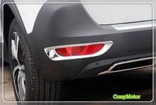 Для Peugeot 5008 GT 2017 2 шт./компл. ABS Chrome Хвост противотуманных фар Накладка наклейки автомобильные аксессуары авто Обложка