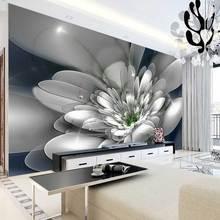 На заказ 3D обои 3D стереоскопический цветочный Современная фреска обои Гостиная Спальня абстрактное искусство фото обои для стен