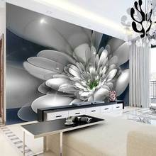 Custom Modern Photo Wallpaper 3D Flower Stereoscopic Embossed Floral Abstract Art 3D Wall Mural For Living Room TV Background
