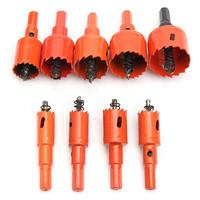 Doersupp 9pcs 16 38mm M42 Drilling Hole Saw Cutting Kit Opener Drill Bit Cutter Holesaw Set