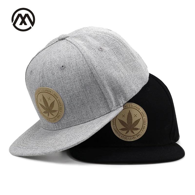 53fca48e Maple Leisure solid cotton snapback caps women's flat brim hip hop cap  outdoor baseball cap bone gorras mens caps Clover hat