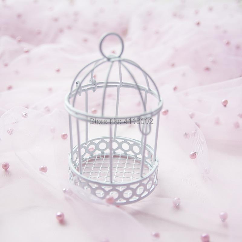 50 pcs 유럽 크리 에이 티브 철 로맨틱 버드 케이지 웨딩 사탕 상자 웨딩 부탁 및 선물 파티 장식-에서선물가방&포장용품부터 홈 & 가든 의  그룹 2