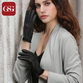 GSG Fashion Women's TouchScreen Gloves for Phone Tablet Simple Genuine Leather Gloves Female Slim Gloves High Quality Sheepskin