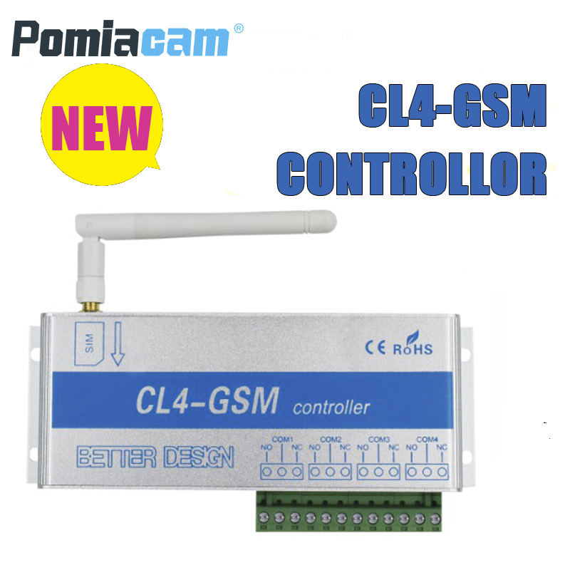 CL4 GSM 4 relays output GSM Switch SMS Controller for control light and home appliances used