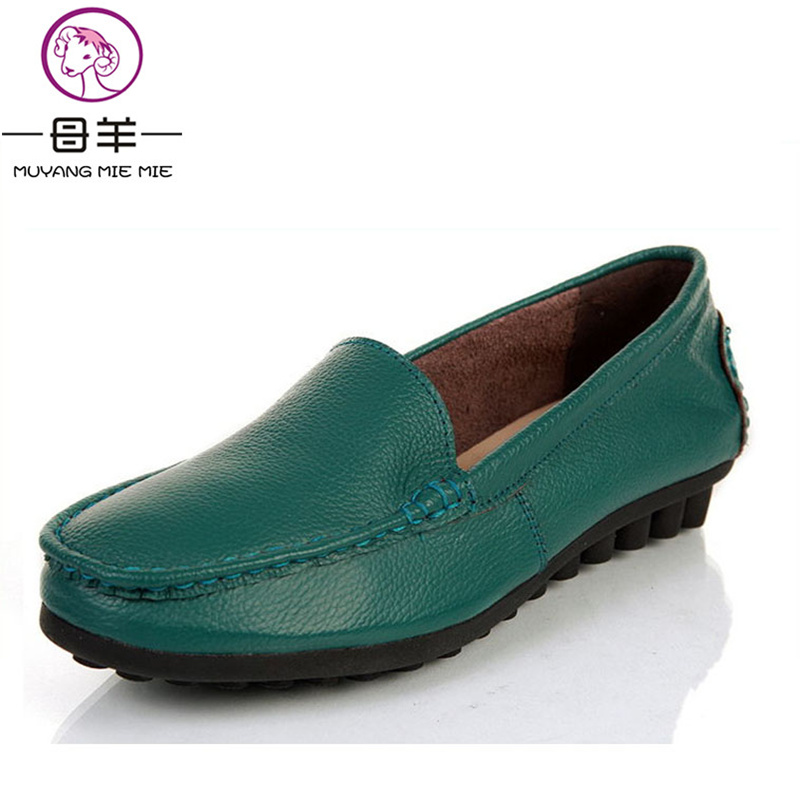 MUYANG MIE MIE Fashion loafers 2017 women shoes genuine leather single shoes female casual flat work shoes women flats парогенератор mie luxe
