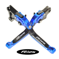 Logo R125 CNC Foldable Motorbike Brake Clutch Levers Case for YAMAHA YZF R125 2008 2009 2010 2011