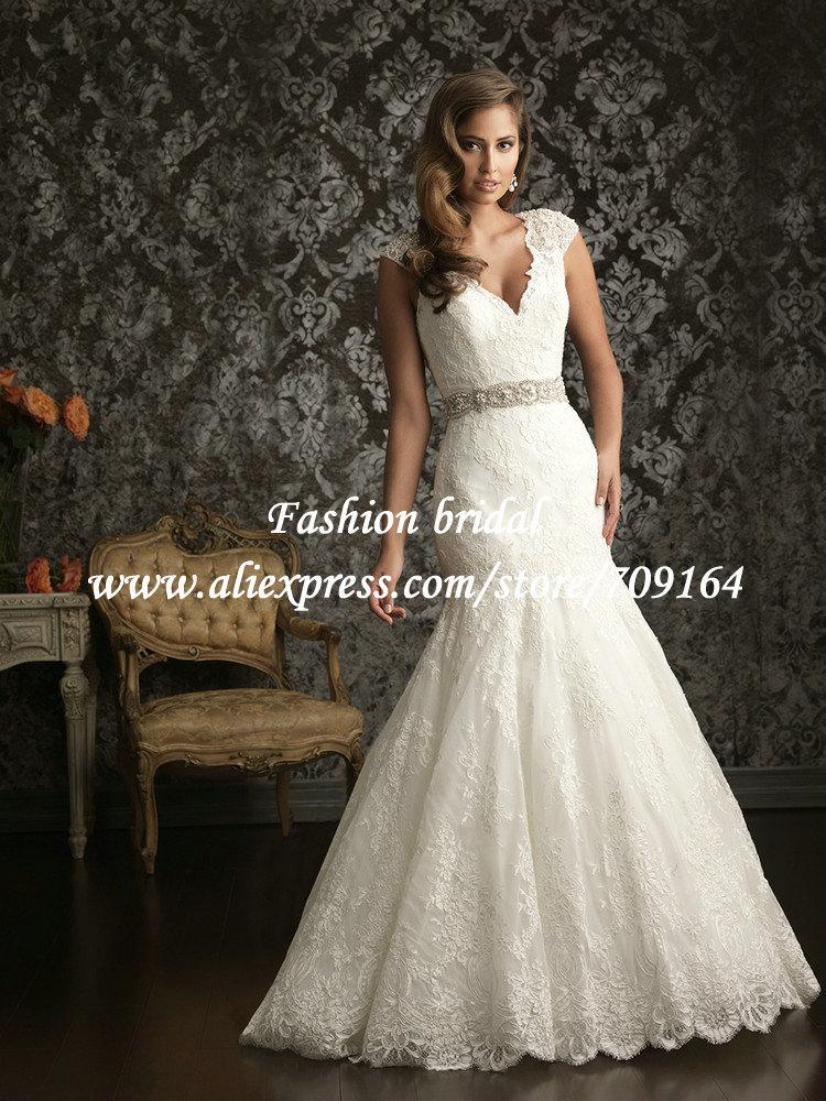 2013 hot sale mermaid crystal bead lace wedding dress cap