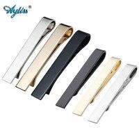 Ayliss新しいホット6ピースメンズ紳士ビジネスミラーシンプルなスチールネクタイ薄いクリップネクタイバークラスプピン42*5ミリメートルサイズと54*8ミリメートルサイ