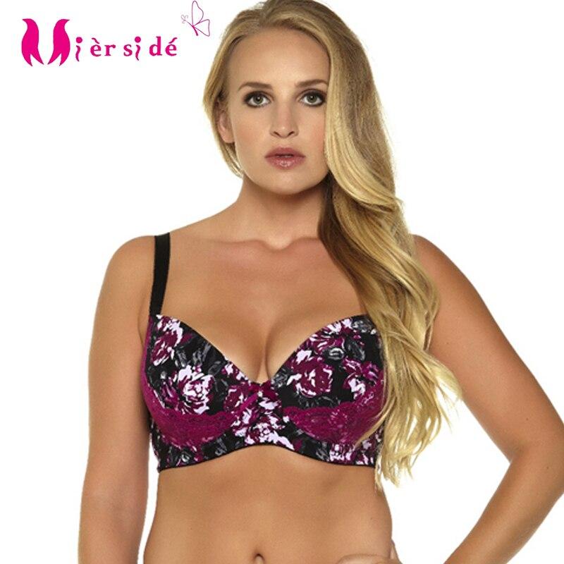 e0916d54 Cheap Mierside 955 5 Color sujetadores mujer lenceria sexi para ropa  interior femenina Plus tamaño Grande