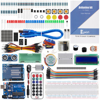 Keywish For Arduino UNO R3 Super Starter Kit SG90 Electronics Projects For Beginners With 70 Pages Tutorial 17 Lessons Complete