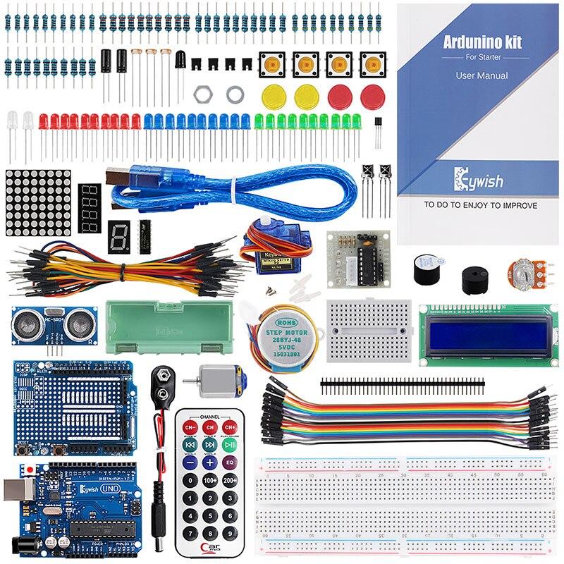 Keywish pour Arduino UNO R3 Super Kit de démarrage SG90 projets d'électronique pour les débutants avec 70 Pages tutoriel 17 leçons complètes