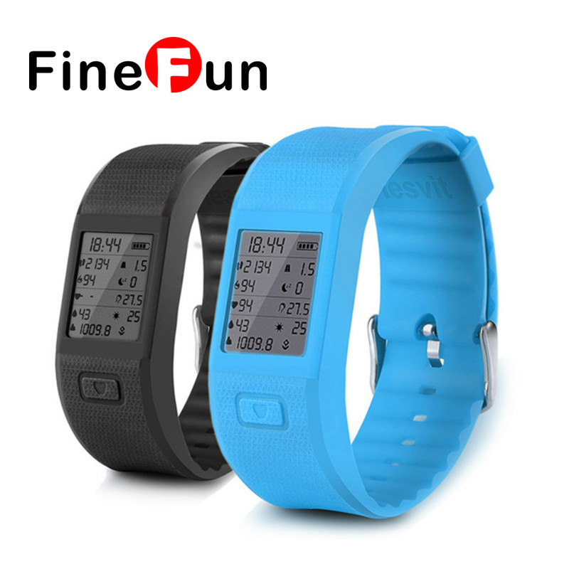 ФОТО FineFun S3 Bluetooth Smart Sports Bracelet Wrist Record Temperature And Humidity Measuring Heart Rate Monitor For IOS Android