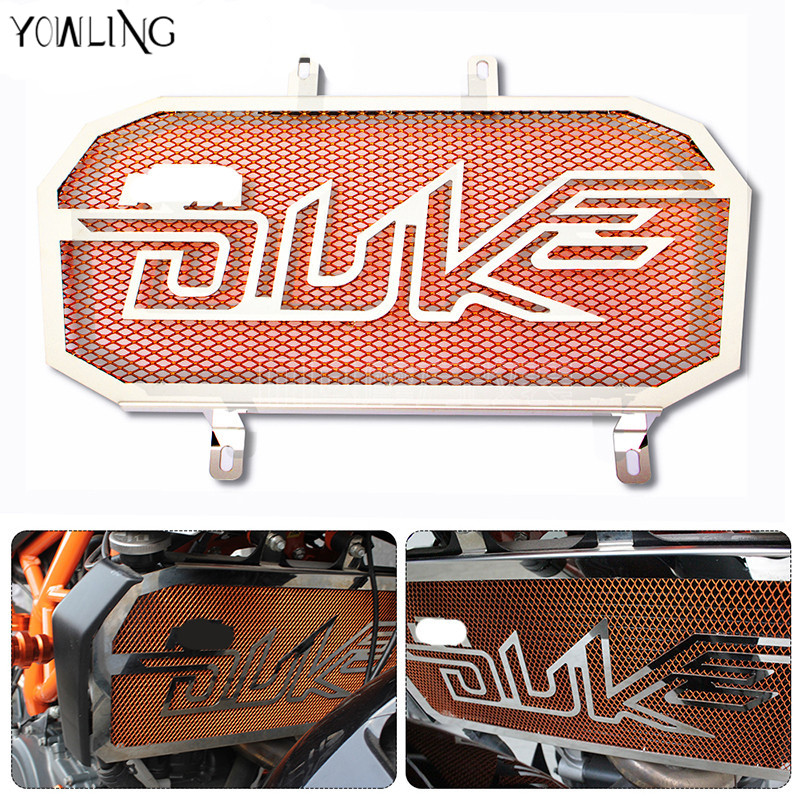 Motorcycle Engine Radiator Bezel Grill Grille Guard Cover Protector Stainless Steel for KTM DUKE390 DUKE200 DUKE 390 DUKE 200 arashi motorcycle radiator grille protective cover grill guard protector for 2008 2009 2010 2011 honda cbr1000rr cbr 1000 rr
