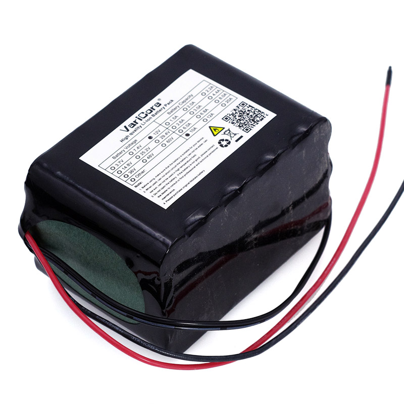 VariCore Large capacity 12 V 10Ah 18650 lithium Rechargeable battery 12v 10000 mAh 75W LED lamp Xenon with BMS