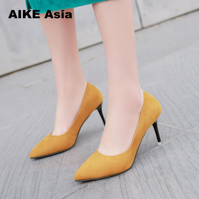 Women Fashion Classic 9cm High Heels Female Cute Slip On High Heel Shoes Lady Spring And Summer Pumps Leisure Shoes Casual women high quality pu leather waterproof platform shoes lady cute and sexy party slip on pumps female office high heel shoes