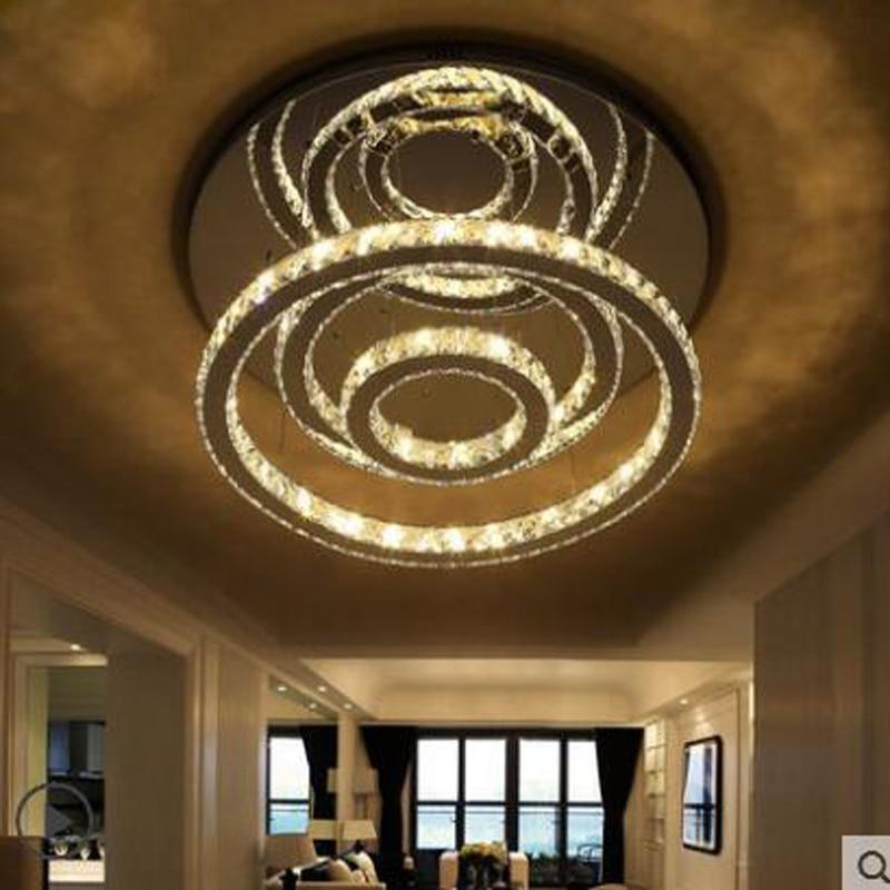 Гостиная лампы простые современные кристалл круглые светодиодные лампы висит всасывания двойной лампа творческая личность ресторан люстр