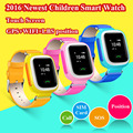 Ruso inglés niños gps smart watch reloj bebé q90 táctil Dispositivo de Localización de Llamadas pantalla SOS Perseguidor de Seguros para Niños Anti-Pérdida Monitor
