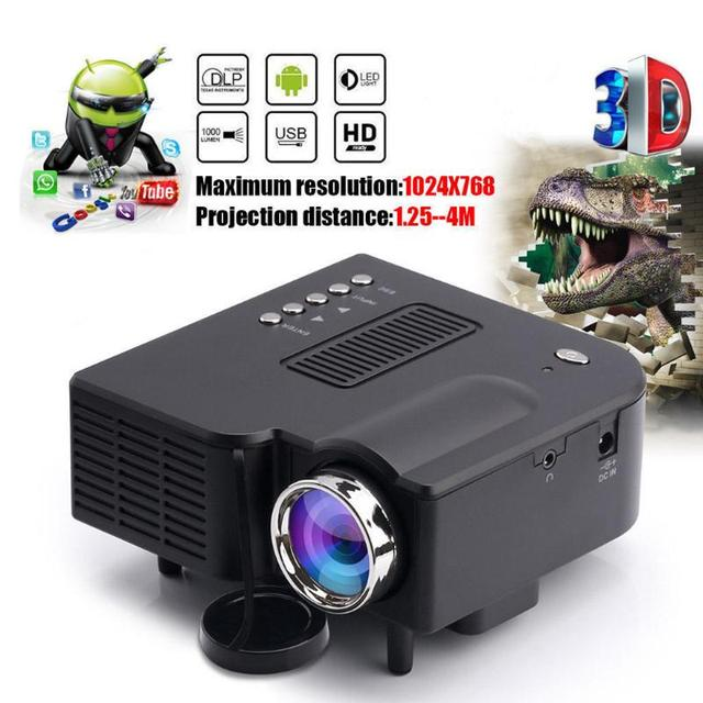 Cheap 16: 9 500LM UC28B Projector Portable LED Projector TF Card USB Home Theater Office School Business Conference LED Projector