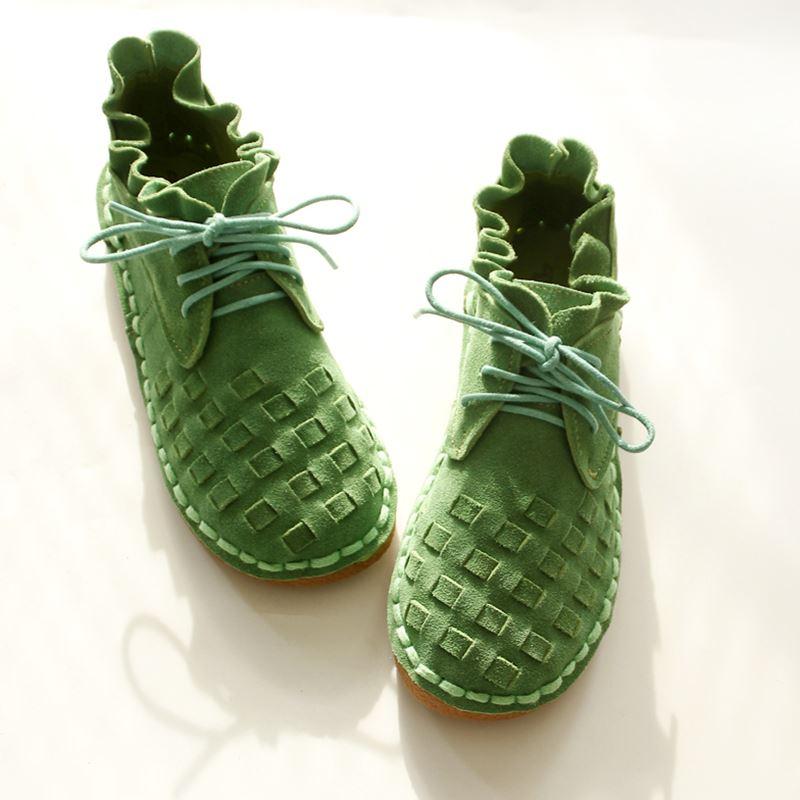 Sen Bouche Vert Profonde Chaussures Et Dentelle Rétro Sauvage 2018 Printemps Femmes lavande chocolat Unie Été En Peu Femme Nouvelle Couleur qx61X0wfT