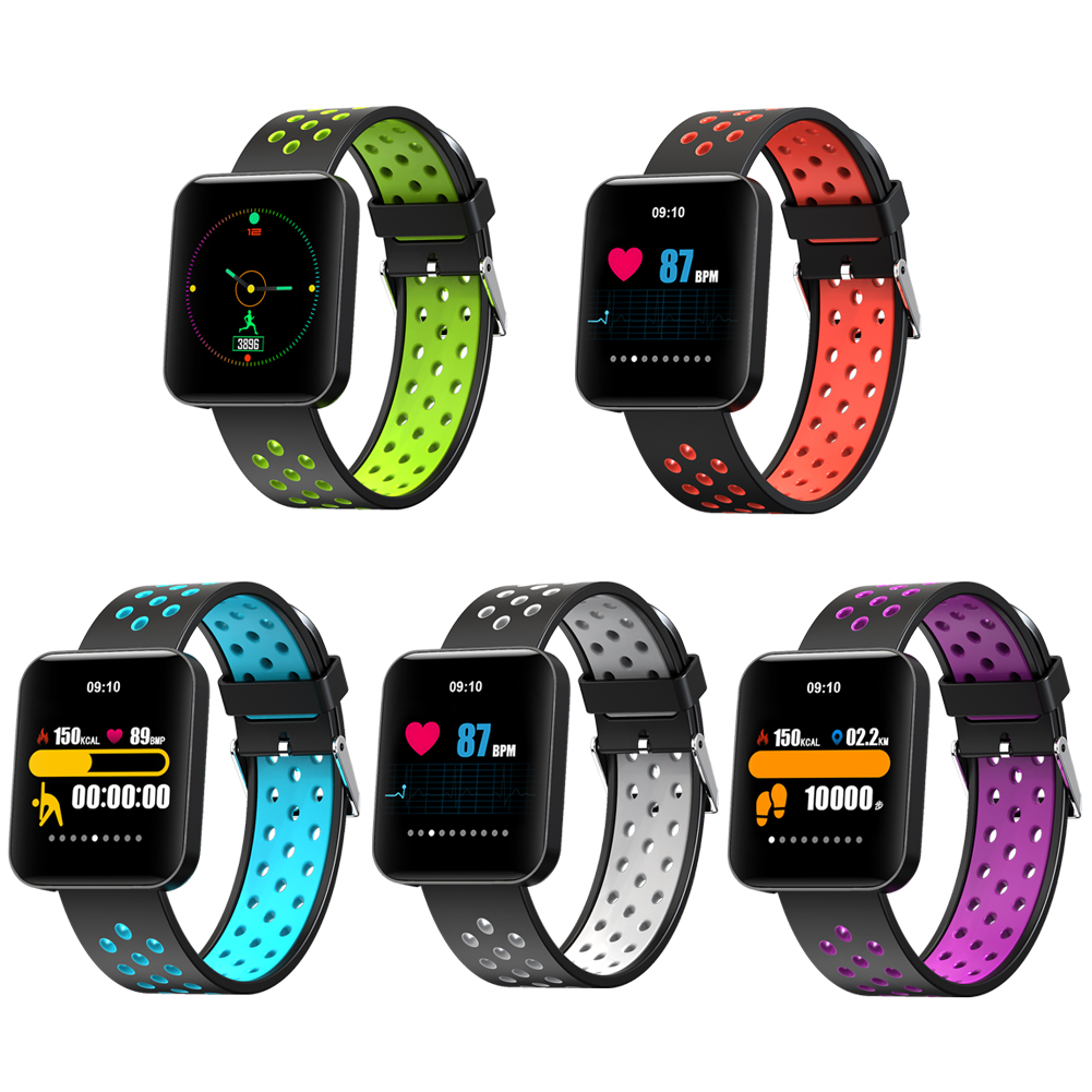 New 1.54 Inch HD Color Screen Smart Watch Blood Pressure Heart Rate Sleep Tracker Fitness Smartwatch 5 Colors