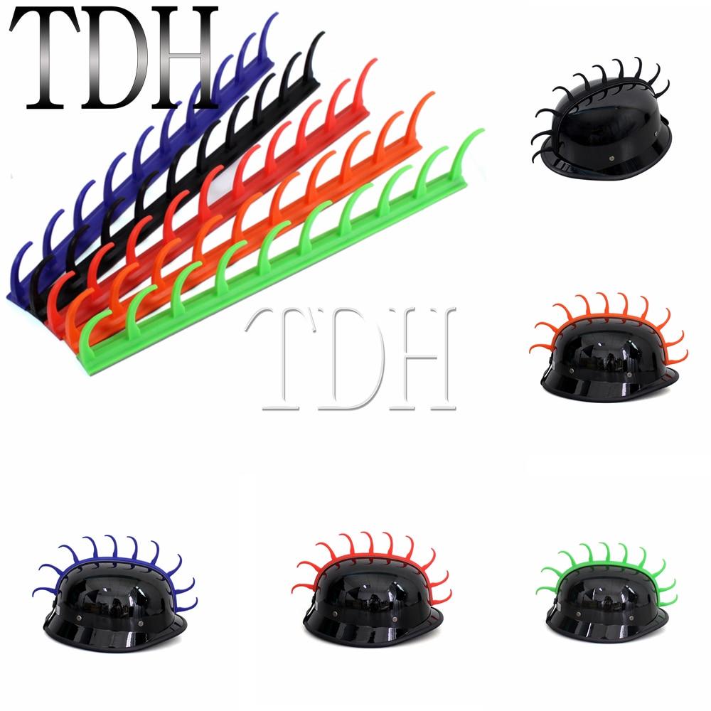 5 Farben Motorrad Helm Aufkleber Gummi Mohawk Capacete