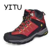 YITU Outdoor 100% Waterproof Hiking Shoes Men Sports Trekking Mountain Shoes Climbing Hunting Hiking Boots Winter Sneakers Women