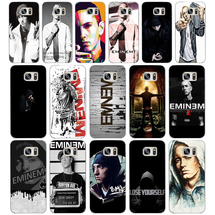 115dd Hop Rapper Eminem Rap Hard Transparent Cover Case For Samsung Galaxy S4 S5 Mini S6 S6 S8 S9 Edge Plus S7 Edge To Have Both The Quality Of Tenacity And Hardness