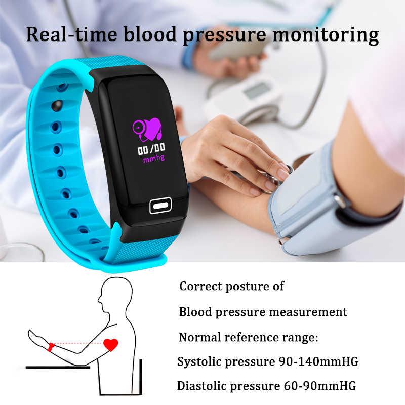2019 BANGWEI נויה חכם שעון גשש כושר קצב לב לחץ דם חמצן צג IP68 עמיד למים חכם שעון גברים נשים + תיבה