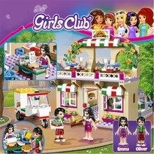Princess Girl Good Friend Series Restaurant Series Pizza Toys For Children Educational Building Blocks With Legoinglys