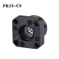 CNC part BallScrew End Support FK15 C5 Set Blocks With Lock Nut Floated & Fixed Side for SFU 2005 BallScrew
