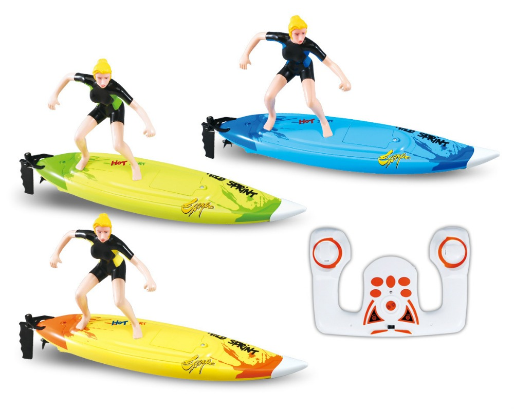 Great Wall 2310 2 4G 4CH High Speed rc boat RC Surf Boat Surfer Surfboard Remote