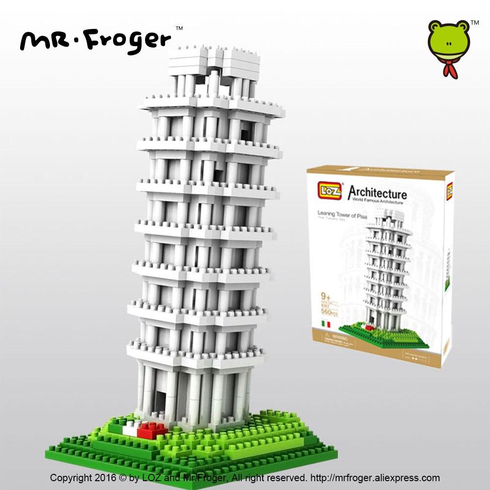 Mr.Froger LOZ Tower of Pisa Diamond Block World Famous Architecture - Byggklossar och byggleksaker - Foto 4