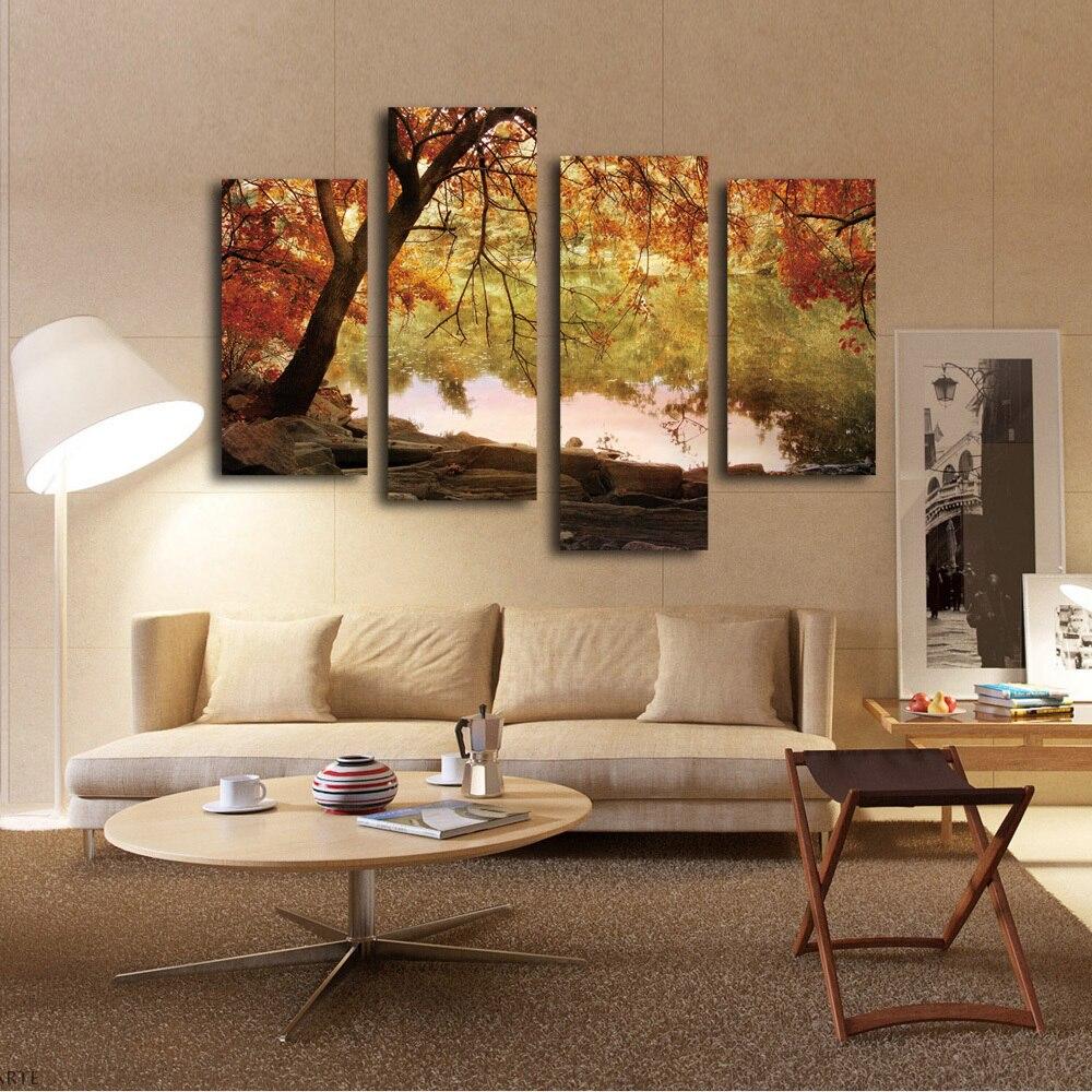 Hangen op de muur in de kantoor decoratie gouden herfst for Kantoor in woonkamer