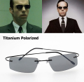 The Matrix Style Polarized Driving Fishing Sunglasses Brand Design B Titanium Memory Frame Sun Glasses Oculos De Sol Masculino