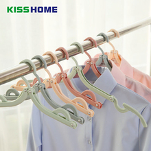 4 Color Plastic Windproof Clip Foldable Coat Hanger Protable Bathroom Balcony Wardrobe Outdoor Mulit-function Travel Drying Rack