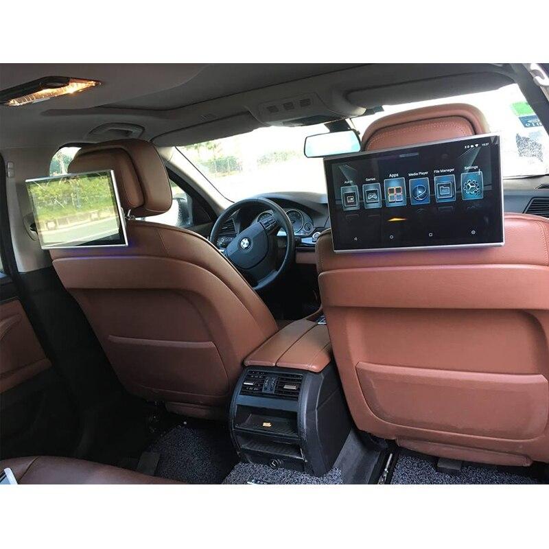 Voiture android appui-tête moniteur avec bluetooth aux 11.6 pouce transmetteur fm de voiture bluetooth soutien HDMI Aux out/en USB SIM Carte