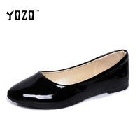 8 Colors Women Shoes Fashion Slip On Rubber Sole Round Toe Shoes Red Black Flat Casual