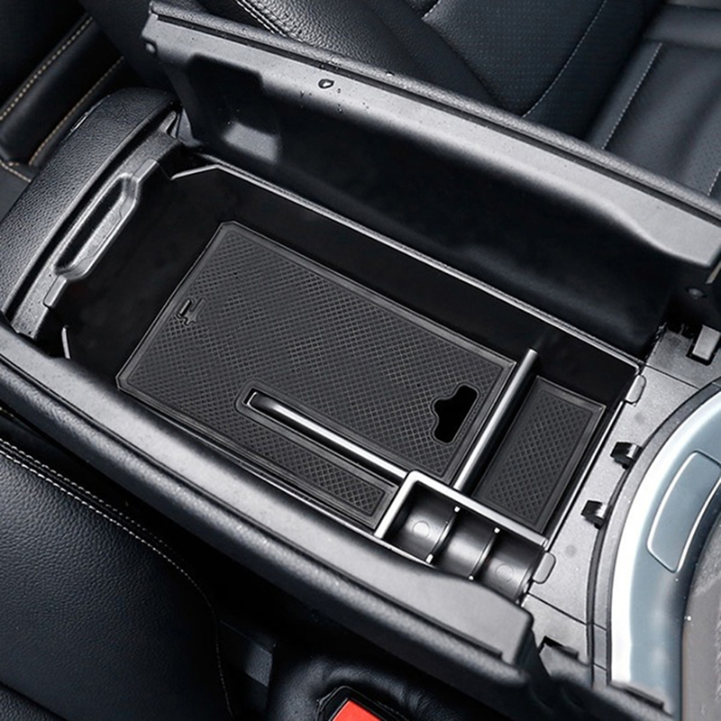 1pc Black For C GLC Class W205 2015+ Console Central Armrest Storage Box Multi-function Boxes Car Interior Accessories