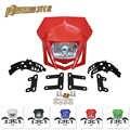 PowerMotor Universal Dual Sport Off-road Motorrad Scheinwerfer Dirt Bike Kopf Lampe Motocross Für HONDA XR CRF 150 230 250 450 KTM