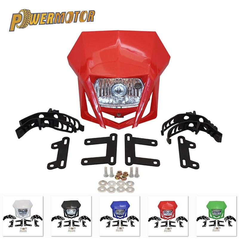 Universal Motorcycle Headlight Headlamp Fairing Farol De Milha Para Moto For HONDA XR CRF 150 230 250 450 KTM Dirt Bike