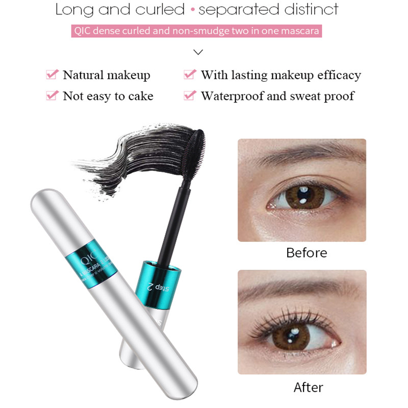 US $2 66 |2018 Korean brand beauty QIC mascara double head curling long  waterproof thick no SUMI 3D mascara 24 hours lasting-in Eyebrow Enhancers  from