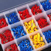 1200PC Assorted Insulated Crimp Terminals Set Electrical Wire Ring Fork U type Spade Butt Crimp Connectors Assortment Kit