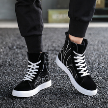 LettBao New High Top Sneakers Fashion Men's Vulcanize Shoes Lace Up Breathable Sneakers Men Black Shoes Men Zapatos De Hombre
